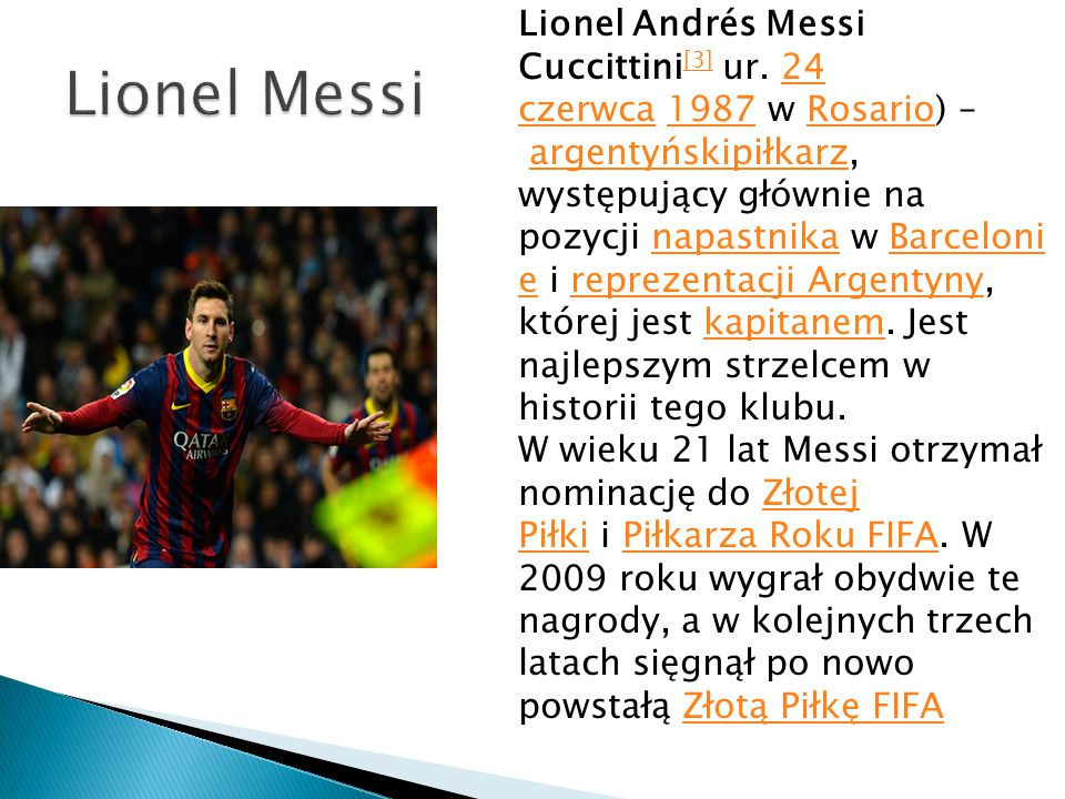 Lionel Andrés Messi Cuccittini[3] ur